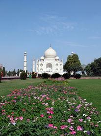 image of mumtaj  - the taj mahal was built , at agra uttar pradesh, indiaby emperor shah jahan as a mausoleum for his wife mumtaj in 1631 ad  - JPG
