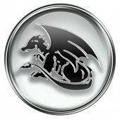 foto of chinese zodiac  - Zodiac icon grey isolated on white background - JPG