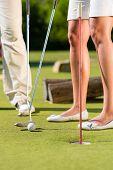 stock photo of miniature golf  - People - JPG