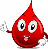 Mascot Illustration Featuring a Drop of Blood Giving a Thumbs Up