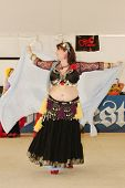 TULSA, OK - OCT 20: Gypsy Fire Belly Dancers group perform at Oktoberfest in TULSA, OK, on October 2