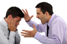 picture of disrespect  - Boss yelling at employee - JPG