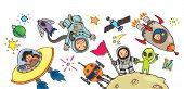 pic of float-plane  - Spacekid adventure artwork - JPG