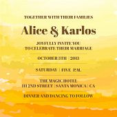 foto of ombre  - Wedding Vintage Invitation Card  - JPG