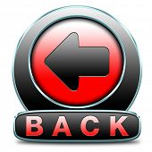 back previous or return button or icon