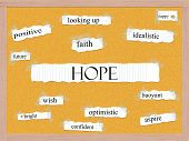 Hope Corkboard Word Concept