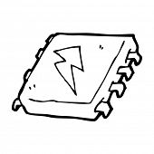 cartoon computer chip