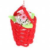 stock photo of macrame  - Flower in a basket - JPG