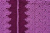 pic of knitting  - Knitted fabric with a pattern of the pink yarn - JPG