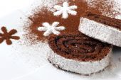 pic of torta  - great dessert with choko and coconut in white background - JPG