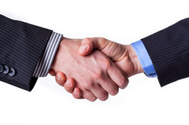 picture of promises  - Busines handshake with a promise of partnership - JPG