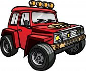 pic of  jeep  - Illustration of a cartoon Red Jeep - JPG