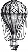 stock photo of air transport  - vintage Air Balloon drawn as engraving isolated on white background - JPG