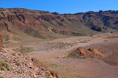 picture of deserted island  - deserted landscape of teide national park on tenerife - JPG