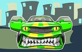 stock photo of street-rod  - Vector illustration of a sports car in a cartoon style - JPG