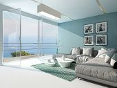 picture of aquamarine  - Luxury waterfront apartment living room with a floor - JPG