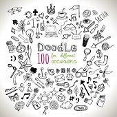 stock photo of universal sign  - Doodle 100 Icons - JPG