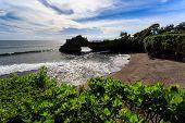 stock photo of tanah  - Coast near Tanah Lot at sunny day Bali Indonesia - JPG