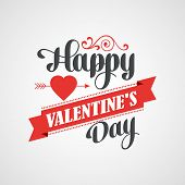 stock photo of greeting card design  - Happy Valentine - JPG