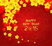 picture of greeting card design  - Chinese New Year greeting card background for design - JPG