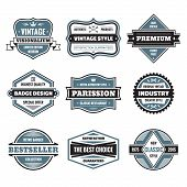 pic of labelling  - Vector graphic badges collection - JPG