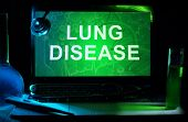 pic of pharyngitis  - Notebook with words  Lung Disease - JPG