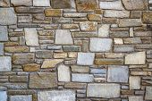 image of fortified wall  - Rock wall background - JPG