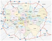 picture of greater  - Greater London Road And Administrative Map - JPG