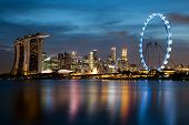 foto of singapore night  - Singapore - JPG
