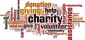 picture of word charity  - Charity word cloud concept - JPG