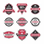 stock photo of trade  - Vector graphic badges collection - JPG