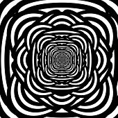 image of hypnotizing  - Abstract Black and white hypnotic background - JPG