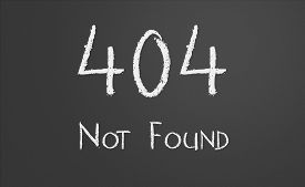 picture of not found  - HTTP Status code 404 Not Found written on a chalkboard - JPG