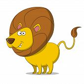 picture of african lion  - cartoon Lion - JPG