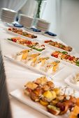 stock photo of buffet  - Buffet at a party or event - JPG