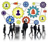 stock photo of partnership  - Community Business Team Partnership Collaboration Support Concept - JPG