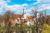 stock photo of bavaria  - Beautiful sight on Church in Regensburg Bavaria State - JPG