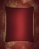 stock photo of nameplates  - Abstract red background with gold worn with red nameplate - JPG