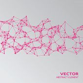 image of cybernetics  - Vector element of pink abstract cybernetic particles - JPG