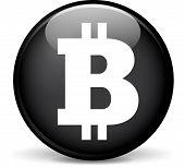 pic of bitcoin  - Illustration of bitcoin modern design black sphere icon - JPG