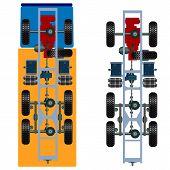 stock photo of suspension  - The truck suspension - JPG