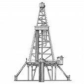 stock photo of oil derrick  - oil derrick - JPG