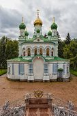 picture of battle  - Old Orthodox Church in Poltava in place the Battle of Poltava - JPG