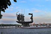 pic of kiev  - monument to the founders of Kiev Kyi Schek Horeb and Lybid - JPG