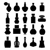 stock photo of perfume bottles  - Vector of bottle icon collection - JPG