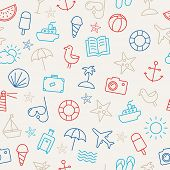picture of palm-reading  - Seamless pattern with icons representing summer - JPG