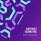 pic of asymmetric  - vector violet purple blue asymmetric colorful abstract geometric background - JPG