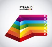 stock photo of pyramid shape  - pyramid infographic design - JPG