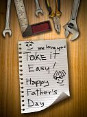 Постер, плакат: Отец день знак