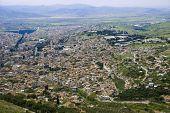 stock photo of akropolis  - Birds eye View of the Bergama town - JPG